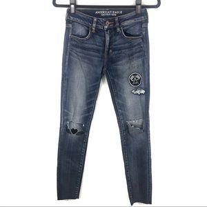American Eagle graffiti skinny jeans G35